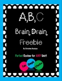 A,B,C Brain Drain Review Activity for ANY Unit - FREE!