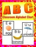 A B C Classroom Alphabet Chart