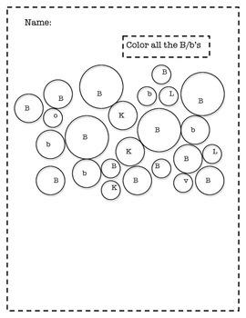 A, B, C, D, E Color by Letter