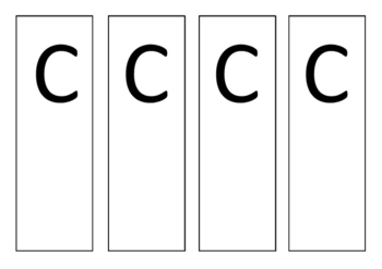 A B C D Flashcards feedback cards