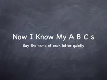 A B C  Flash Card Style Movie