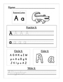 Handwriting Alphabet Letter Workbook or Worksheets