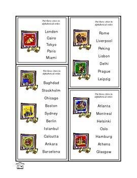 A-B-C Me! Alphabetizing Cards
