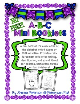 A-B-C Mini Booklets {NO PREP}