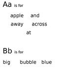 A B Sight Word Tracing- Editable