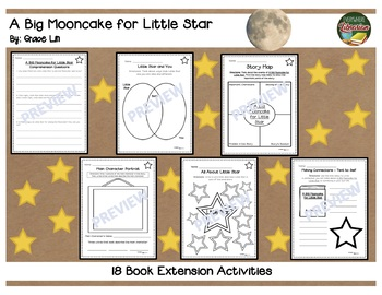A BIG Mooncake for Little Star by Grace Lin 18 Book Extension Activities NO PREP