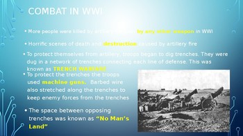A BLOODY CONFLICT WWI POWERPOINT