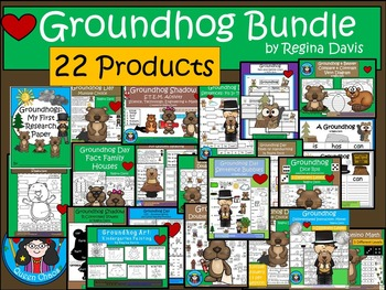 A+  BUNDLE Groundhog Day...Language Arts and Math Combination Pack!