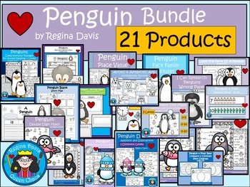 A+  BUNDLE:  Penguin Pack...Language Arts and Math Pack