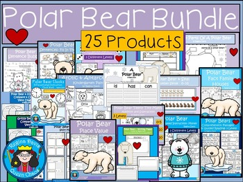 A+  BUNDLE:  Polar Bear Pack...Language Arts and Math Pack
