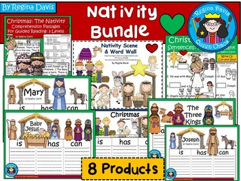 A+  BUNDLED Christmas Nativity Pack...Language Arts and Math Combination Pack!