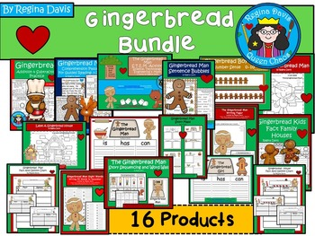 A+  BUNDLED Gingerbread Pack...Language Arts and Math Combination Pack!