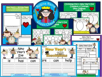 A+  BUNDLED Happy New Year Pack...Language Arts and Math Combination Pack!