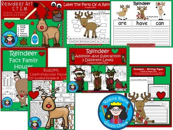 A+  BUNDLED Reindeer Pack...Language Arts and Math Combination Pack!