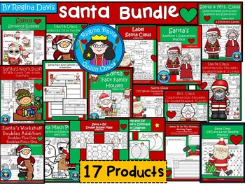 A+  BUNDLED Santa Claus...Language Arts and Math Combinati