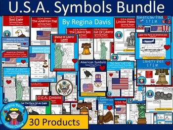 A+  BUNDLED U.S.A. Symbols...Combination Pack!