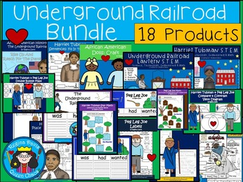 A+  BUNDLED Underground Railroad...Language Arts and Math Combination Pack!