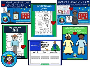 A+  BUNDLED Underground Railroad...Language Arts and Math Combination Pack!