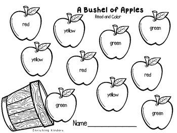 A BUSHEL OF APPLES- COLOR WORDS
