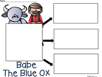 A+ Babe The Blue Ox ... Three Graphic Organizers For The Tall Tale, Paul Bunyan