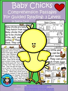 A+ Baby Chicks....Comprehension: Differentiated Instruction For Guided Reading
