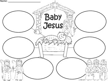 A+  Baby Jesus ... Three Graphic Organizers