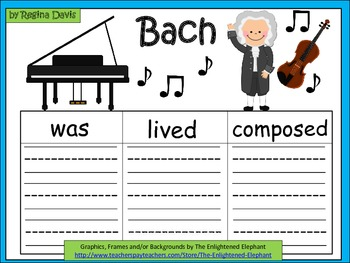 A+  Bach... Three Graphic Organizers