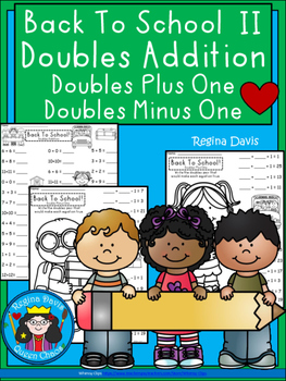 A+ Back To School 2! Doubles Addition: Doubles Plus One, D