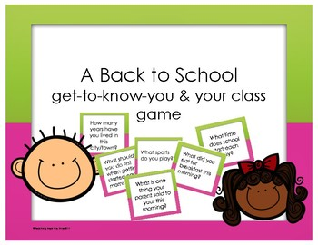 A Back-To-School Get to Know You Game