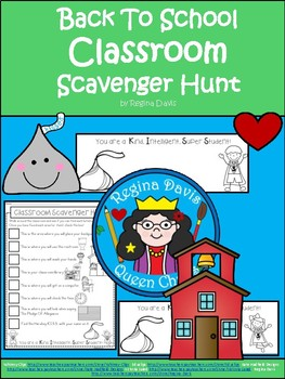A+ Back To School Scavenger Hunt