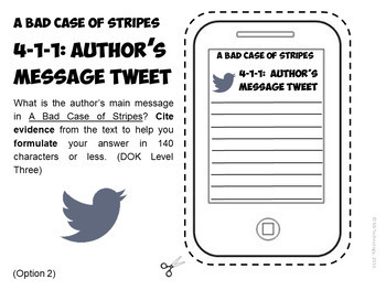 A Bad Case Of Stripes by David Shannon Reading Lessons & Activities Bundle