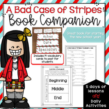 A Bad Case of Stripes Book Companion #StartFreshBTS