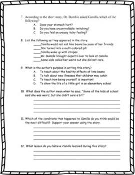 A Bad Case of Stripes - Book Test & Bonus Book Report