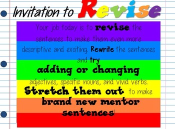 A Bad Case of Stripes Interactive Mentor Sentence Powerpoint