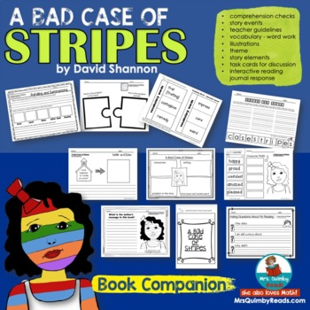 A Bad Case of Stripes | Reader Response | Book Companion |Children's Literature