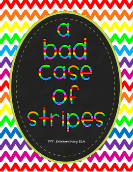 A Bad Case of Stripes Story Organizer and Writing