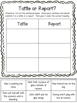 A Bad Case of Tattle Tongue Activities by Klever Kiddos | TpT