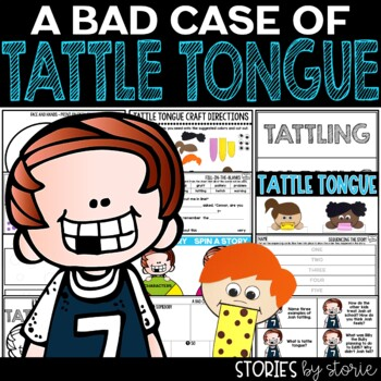 a bad case of tattle tongue book questions vocabulary craft. Black Bedroom Furniture Sets. Home Design Ideas