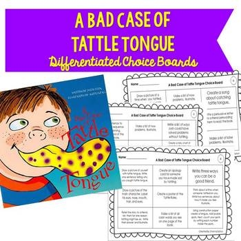 A Bad Case of Tattle Tongue Differentiated Choice Boards