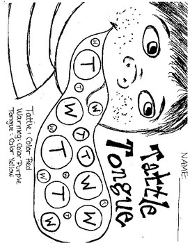 tattle tongue coloring page - a bad case of the tattle tongue julia cook by sunny
