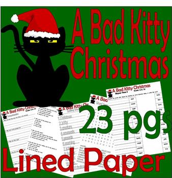 A Bad Kitty Christmas : Reading Comprehension Book Study 20pg Packet