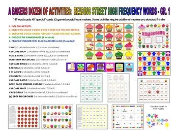A Baker's Dozen of Activities: Reading Street Grade 1 High Frequency Words