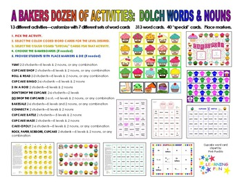 A Baker's Dozen of Activities for Dolch Words