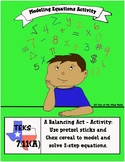 A Balancing Act: Modeling Equations Activity