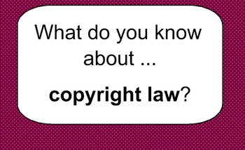 A Basic Lesson on Copyright and Intellectual Property
