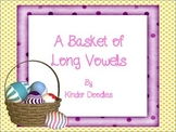 A Basket of Long Vowels Literacy Center Activities