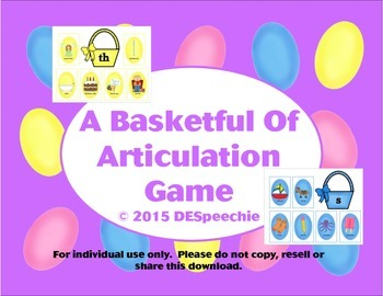 A Basketful of Articulation Game