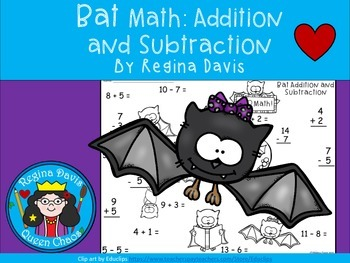 A+  Bat Addition and Subtraction Quick Math