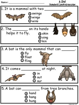 A+ Bat Comprehension:Differentiated Instruction For Guided Reading