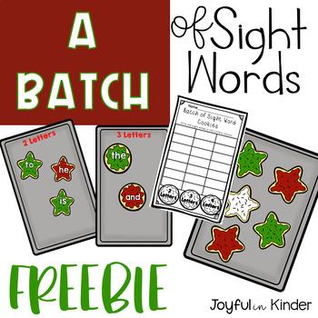 A Batch of Sight Words - FREEBIE
